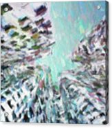 Abstract Digital Oil Painting Full Of Texture And Bright Color Acrylic Print