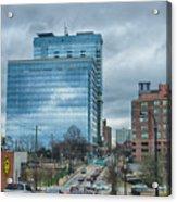 Atlanta Downtown Skyline Scenes In January On Cloudy Day Acrylic Print