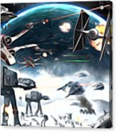 Empire Star Wars Poster Acrylic Print