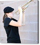 Female Trumpet Player. Acrylic Print