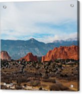 Garden Of The Gods And Pikes Peak Acrylic Print