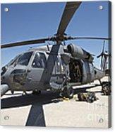 Hh-60g Pave Hawk With Pararescuemen Acrylic Print
