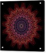 Kaleidoscope Image Created From Light Trails Acrylic Print