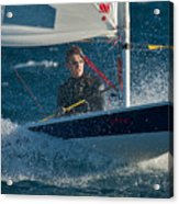 Lake Tahoe Sailboat Racing Acrylic Print