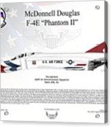 Mcdonnell Douglas F-4e Phantom II Thunderbird Acrylic Print