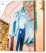 Mural Painting In Saludecio Acrylic Print