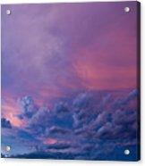 Nebraska Hp Supercell Sunset Acrylic Print