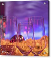 Party Setting With Colorful Bokeh Background Acrylic Print