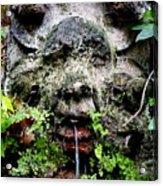 Public Fountain In Palma Majorca Spain Acrylic Print