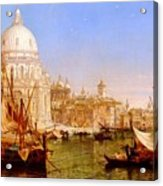 selous Henry Courtney A View Along The Grand Canal With Santa Maria Della Salute Henry Courtney Selous Acrylic Print