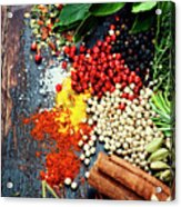 Spices And Herbs Acrylic Print