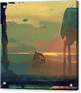 Star Wars Heroes Art Acrylic Print