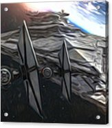 Star Wars Old Poster Acrylic Print