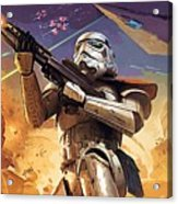 Star Wars Saga Poster Acrylic Print