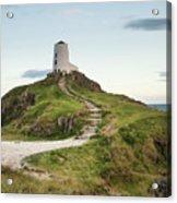 Stunning Summer Landscape Image Of Lighthouse On End Of Headland Acrylic Print