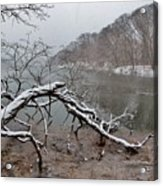 The Bass River In Winter Acrylic Print