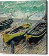 Three Fishing Boats Acrylic Print