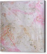 11. V2 Pink And Cream Texture Glaze Painting Acrylic Print