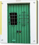 Wooden Door In Old San Juan, Puerto Rico Acrylic Print