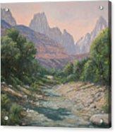 110124-1216   Bryce Canyon Run-off Acrylic Print
