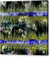 11362 Child Of The Universe With Lyrics By Barclay James Harvest Acrylic Print