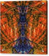 11450 Summer Fire Mask 32 Version 2 - God Of Fire Acrylic Print