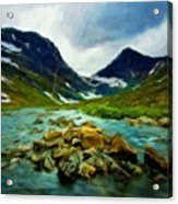 Nature Pictures Of Oil Paintings Landscape Acrylic Print