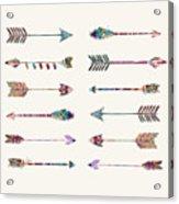 12 Arrows Acrylic Print