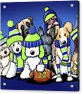 12 Dogs On Blue Acrylic Print