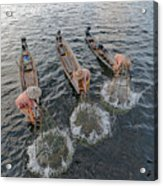 Fisherman Inle Lake - Myanmar Acrylic Print