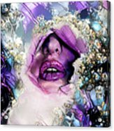 Hidden Face With Lipstick Acrylic Print