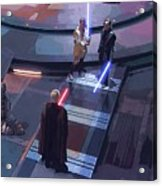 Star Wars Characters Art Acrylic Print