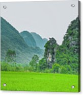 The Beautiful Karst Rural Scenery Acrylic Print