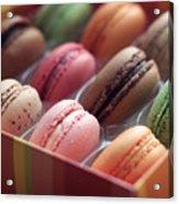 French Macaron Rainbow Acrylic Print