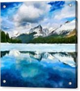 Nature Landscape Oil Painting For Sale Acrylic Print