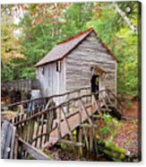 1267 Great Smoky Mountain Cable Mill Acrylic Print