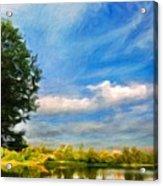 Nature Landscape Painting Acrylic Print
