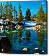 Nature Oil Canvas Landscape Acrylic Print