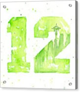 12th Man Seahawks Art Go Hawks Acrylic Print