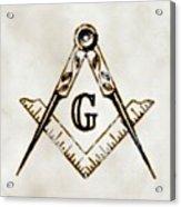 Ancient Freemasonic Symbolism By Pierre Blanchard Acrylic Print