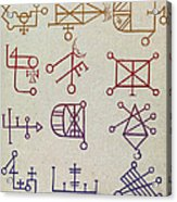 Cabbalistic Signs And Sigils, 18th Acrylic Print