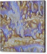 13. Cascade Brown Glaze Painting Acrylic Print
