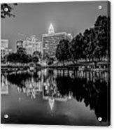 Charlotte City Skyline Night Scene Acrylic Print