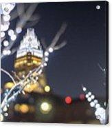 Christmas Lights Holiday Decorations Around Charlotte North Caro Acrylic Print