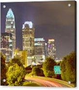 Downtown Of Charlotte  North Carolina Skyline Acrylic Print