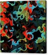 Fractal Modern Art Seamless Generated Texture Acrylic Print