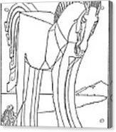 Homer: The Iliad Acrylic Print