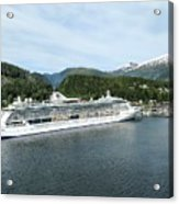 ketchikan alaska downtown of a northern USA town Acrylic Print