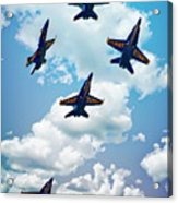 Navy Blue Angels Acrylic Print