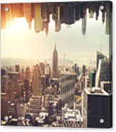 New York Midtown Skyline - Aerial View Acrylic Print